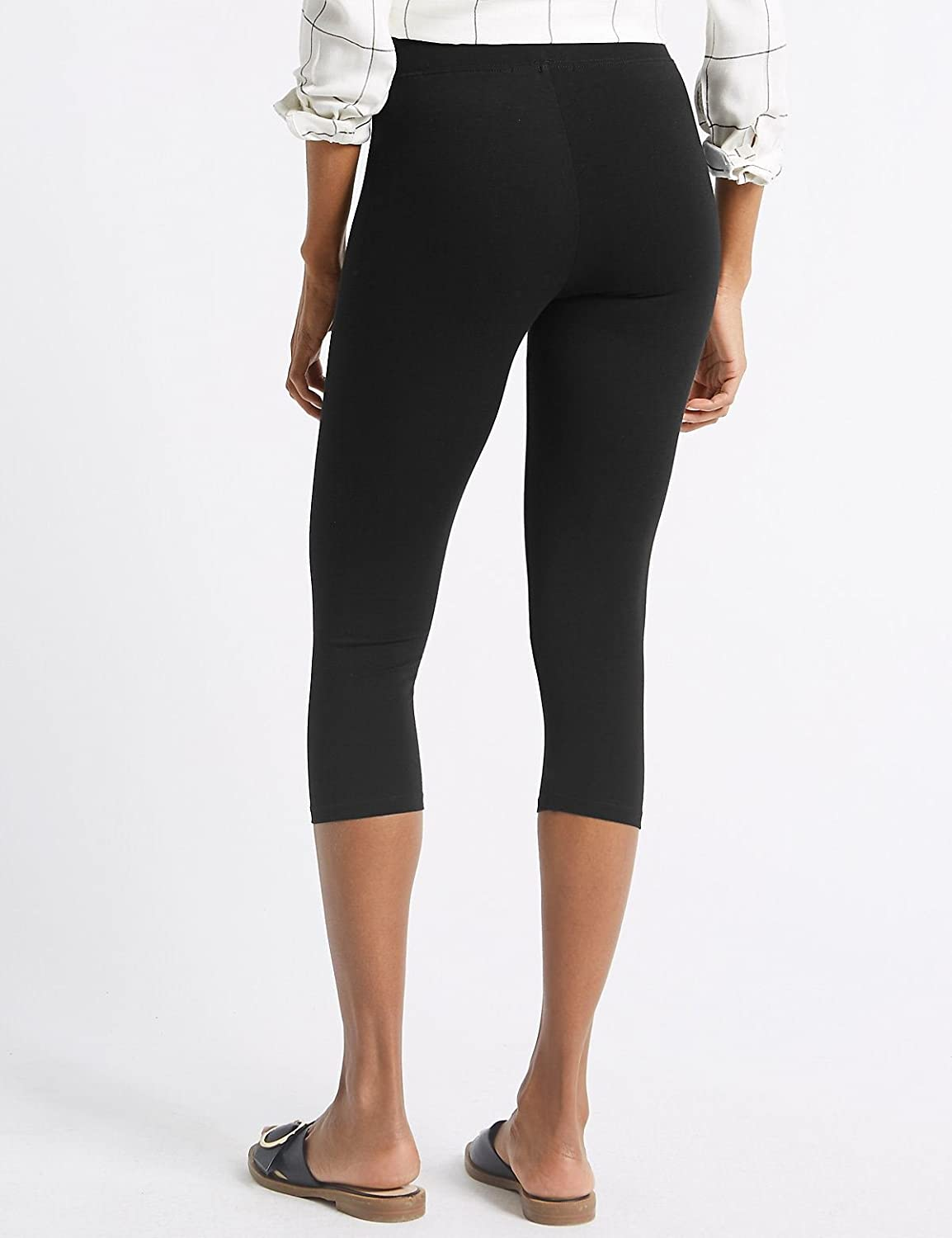 2539549227a017 Ex Marks & Spencer M&S Womens Cropped Extra Stretch Leggings RRP £16:  Amazon.co.uk: Clothing