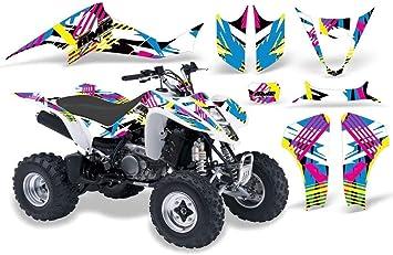 Flashback AMR Racing ATV Graphics kit Sticker Decal Compatible with Suzuki LT-Z400 2003-2008