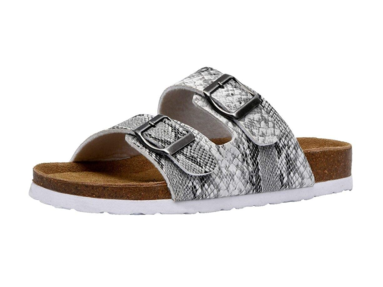 CUSHIONAIRE Womens Lane Cork Footbed Sandal with Comfort