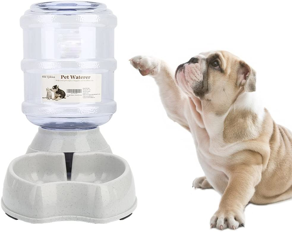 Old Tjikko Dogs Water Dispenser,Water Bowl for Dogs,Pet Water Dispenser,Automatic Dog Water Bowl Cat Water Dispenser Dog Drinking Fountain