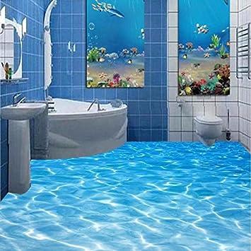 Häufig lwcx Custom Fototapete Beach Meerwasser Wohnzimmer 3D Fußböden HI91