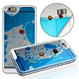 Case for iPhone 6S Plus,Cover for iPhone 6S Plus,iPhone 6S Plus CaseHard Case for iPhone 6S Plus,NSSTAR Creative Design Flowing Liquid Swimming Fish Hard Case for Apple iPhone 6S Plus (2015)/ iPhone 6 Plus (2014) (Blue)