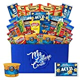 My College Crate Microwaveables Ultimate Snack Care Package for College Students - Variety Assortment of Microwaveables, Mac & Cheese, Popcorn, Ramen,...