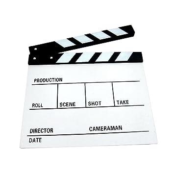 Tablero de madera de la chapaleta Pizarra Director de cine ...