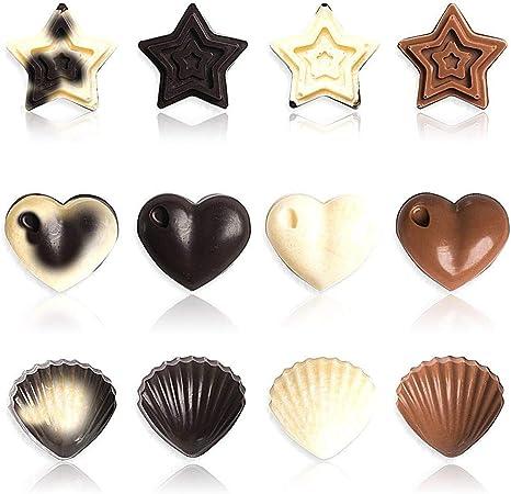 Sans BPA faites des cupcakes sucr/és et des /étoiles des muffins et des moules /à biscuits Paquet de 3 moules en silicone pour bonbons et moules au chocolat