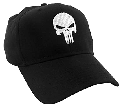 Amazon.com  PUNISHER SKULL - Embroidered in the USA Baseball Cap Hat   Clothing 79c589f1a04