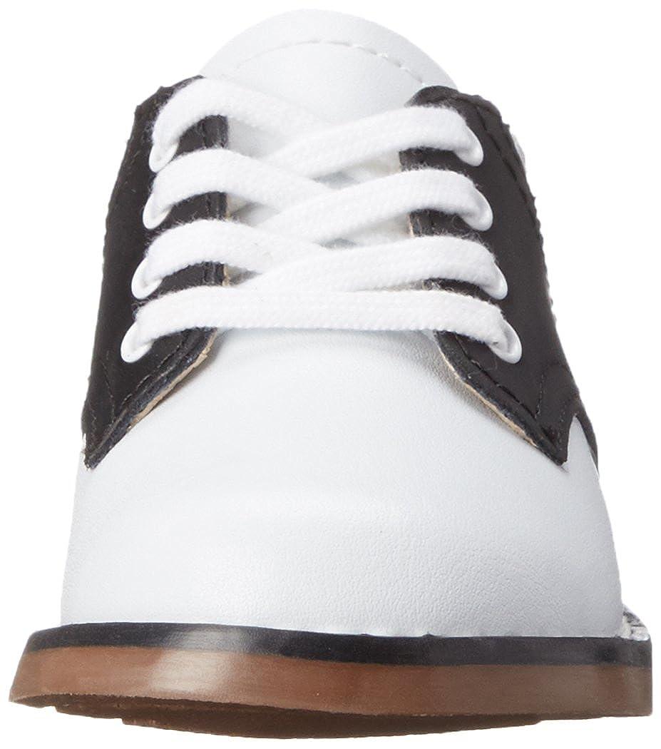 Infant//Toddler//Little Kid FOOT MATES Cheer Laceup Saddle White//Black FootMates Kids Footwear