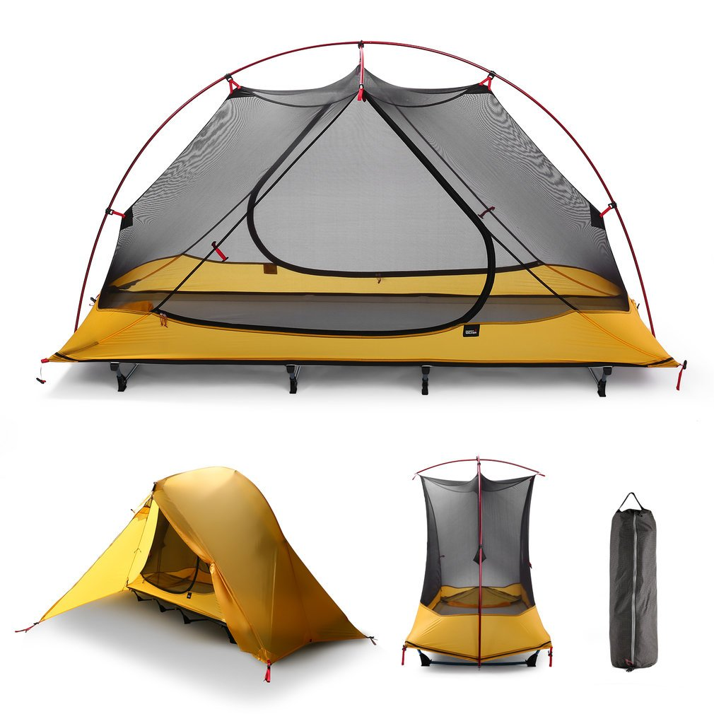 OUTAD Camping tents 15D nylon double-sided silicone tents Portable Multifunctional Off Ground Tent by OUTAD (Image #7)