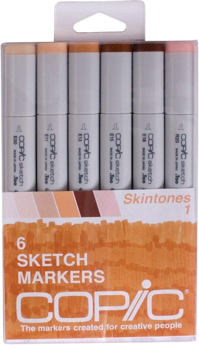 Copic Marker SKST6-SKIN Sketch Skin Tones 1 Marker (Pack of 6)