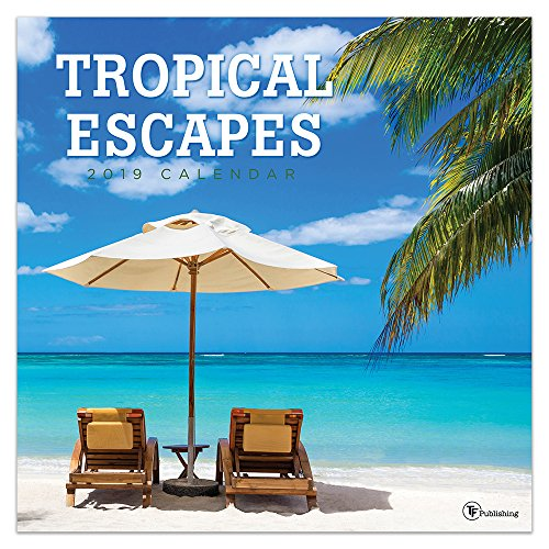 2019 Tropical Escapes Wall Calendar