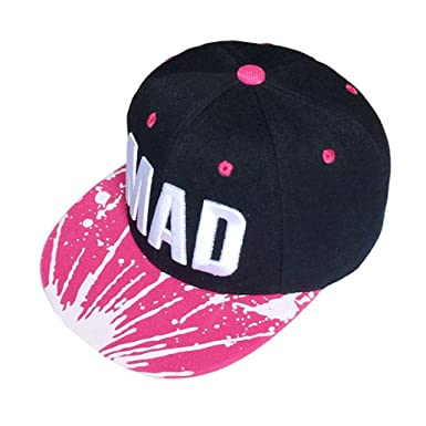2754ae369f5a6 3~8 Years Kid Boys Girls Trendy Hat Snapback Cap Letters Baseball Caps Flat  Hip Hop Cap Ularma (Hot Pink)  Amazon.co.uk  Clothing