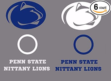 Penn State Lions Vinyl Sticker Decal Sizes Cornhole Wall