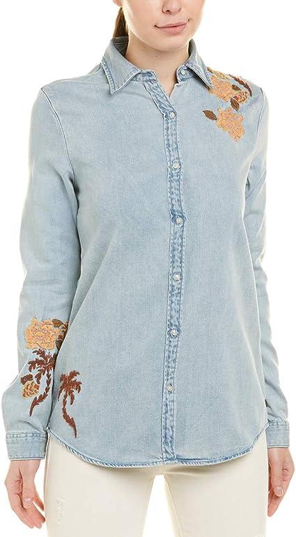 Scotch /& Soda Girls Slim Fit Clean Shirt with Ruffles Long Sleeve Top