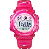 Skmei Boys Girls Sports Watch, Multi Function Digital Kids Watches Waterproof LED Light Wristwatches for Children