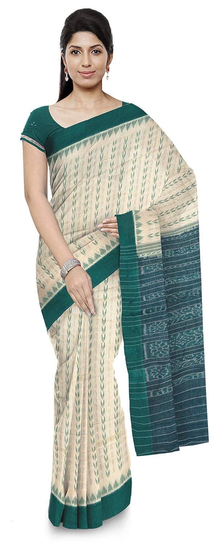 Green Color Women's Ikat Cotton Saree