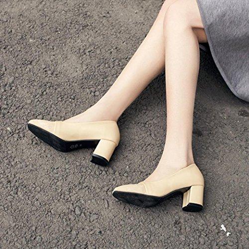 Vendita Calda, Scarpe Da Donna Casual Estate Moda Tacco Alto Puntato Scarpe Casual Scarpe Casual (us: 7, Beige) Kaki