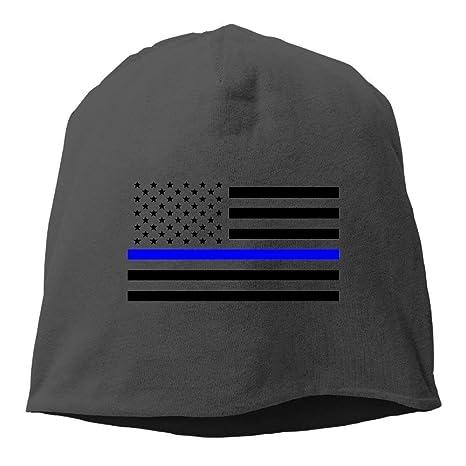 Thin Blue Line American Flag Beanie Sombreros Gorras Tejidas de ...