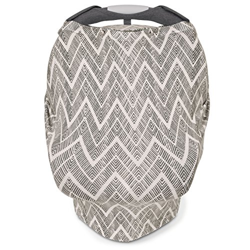 Skip Hop Grab and Go Arm Pad and Car Seat, Grey Zig Zag