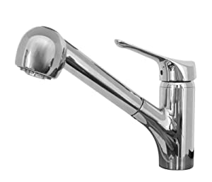 Franke FFPS20000 Vesta Single Handle Pull-Out Kitchen Faucet, Chrome