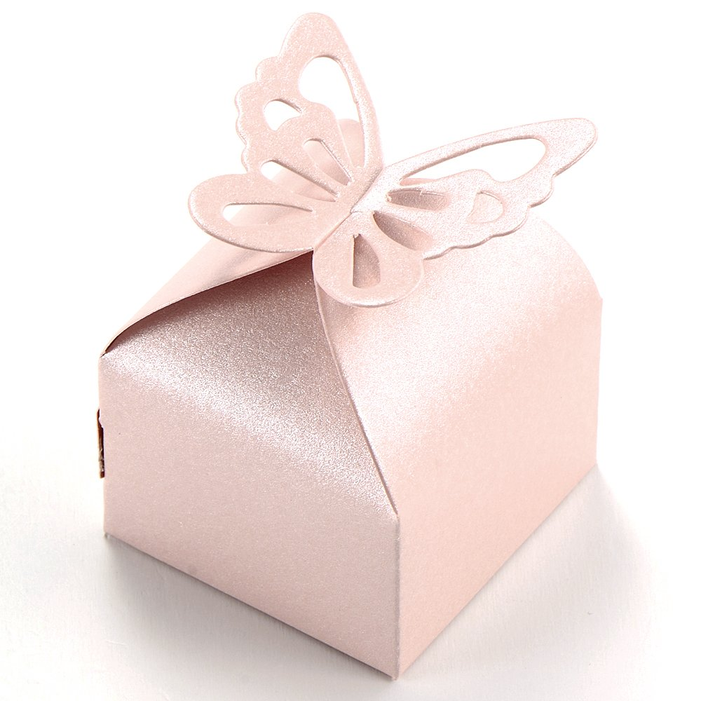 Amazon 50pcs Butterfly Style Wedding Favour Boxes Candy Gift