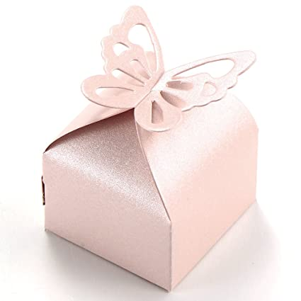 Amazoncom 50pcs Butterfly Style Wedding Favour Boxes Candy Gift