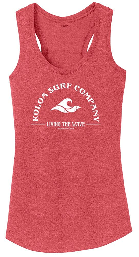 994dd3f673c23 Koloa Surf Ladies Living The Wave Racerback Tank Tops in Sizes XS-4XL at  Amazon Women s Clothing store