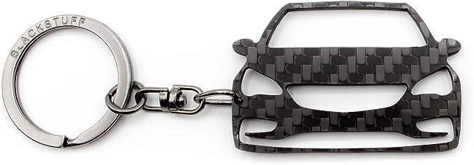 Blackstuff Carbon Karbonfaser Schlüsselanhänger Kompatibel Mit Astra K 2015 Bs 791 Auto