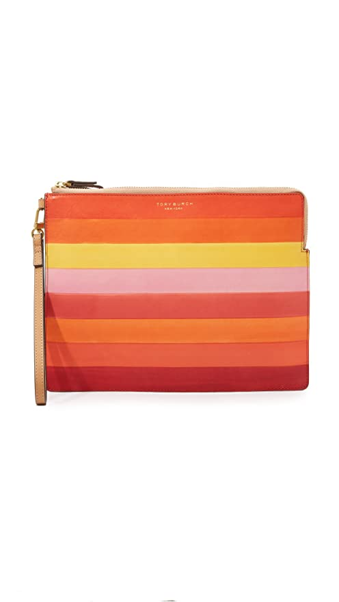 5f2534959bbe Buy Tory Burch Block-T Degrade Large Pouch in Light Oak Multi Online at Low  Prices in India - Amazon.in