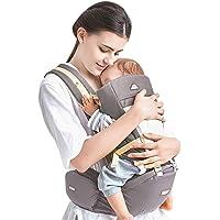 Kidshome Portador de bebé Hipseat ergonómico para bebés 4 en 1 Carro frontal para 0-3 años bebé (gris)