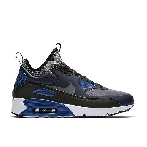 release date: ed686 9e46c Nike Air Max 90 Ultra Mid Winter - 924458401 - Colore  Nero-Grigio-Azzuro -  Taglia  45.0  Amazon.it  Scarpe e borse