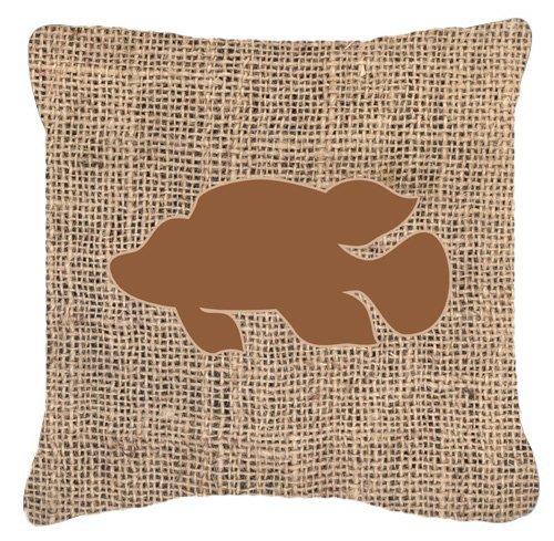 "UPC 615872541225, Caroline's Treasures BB1013-BL-BN-PW1818 Fish Tropical Burlap & Brown Pillow, 18"" x 18"", Multicolor"