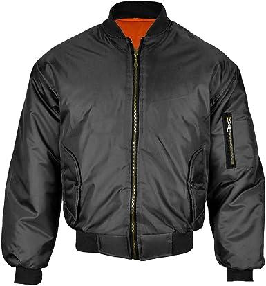 New Men/'s Zip Flight MA1 Retro Harrington Style Ribbed Lightweight Bomber Jacket