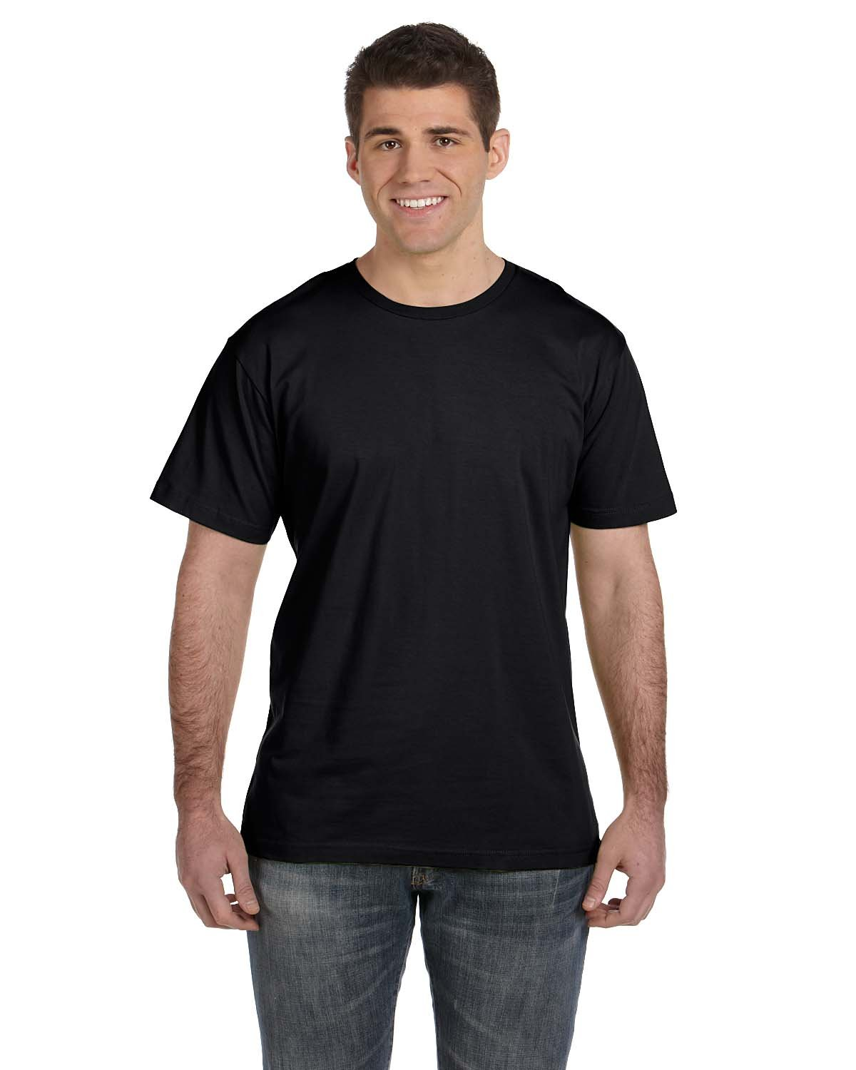 LA T Adult Fine Jersey T-Shirt , Black, XX-Large. ( Pack12 )