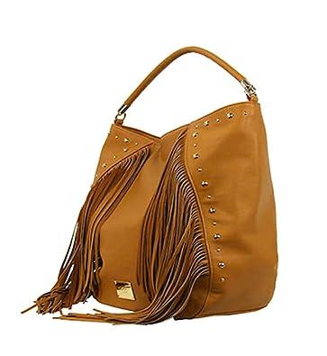 1a0bf8d716 Ladies LYDC Fringe Shoulder Bag - Women s Rock Chic Leather Style Tassel  Handbag GL3408  Amazon.co.uk  Shoes   Bags