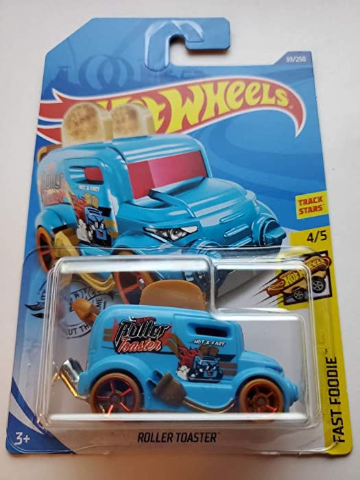 Hot Wheels 2020 Fast Foodie Roller Toaster (Toaster Car) 39/250, Light Blue
