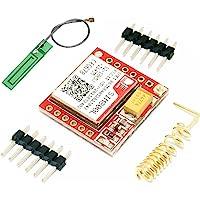 SIM800L más pequeño GPRS GSM módulo de ruptura cuádruple banda 850/900/1800/1900 MHz ranura para tarjeta SIM a bordo con antena