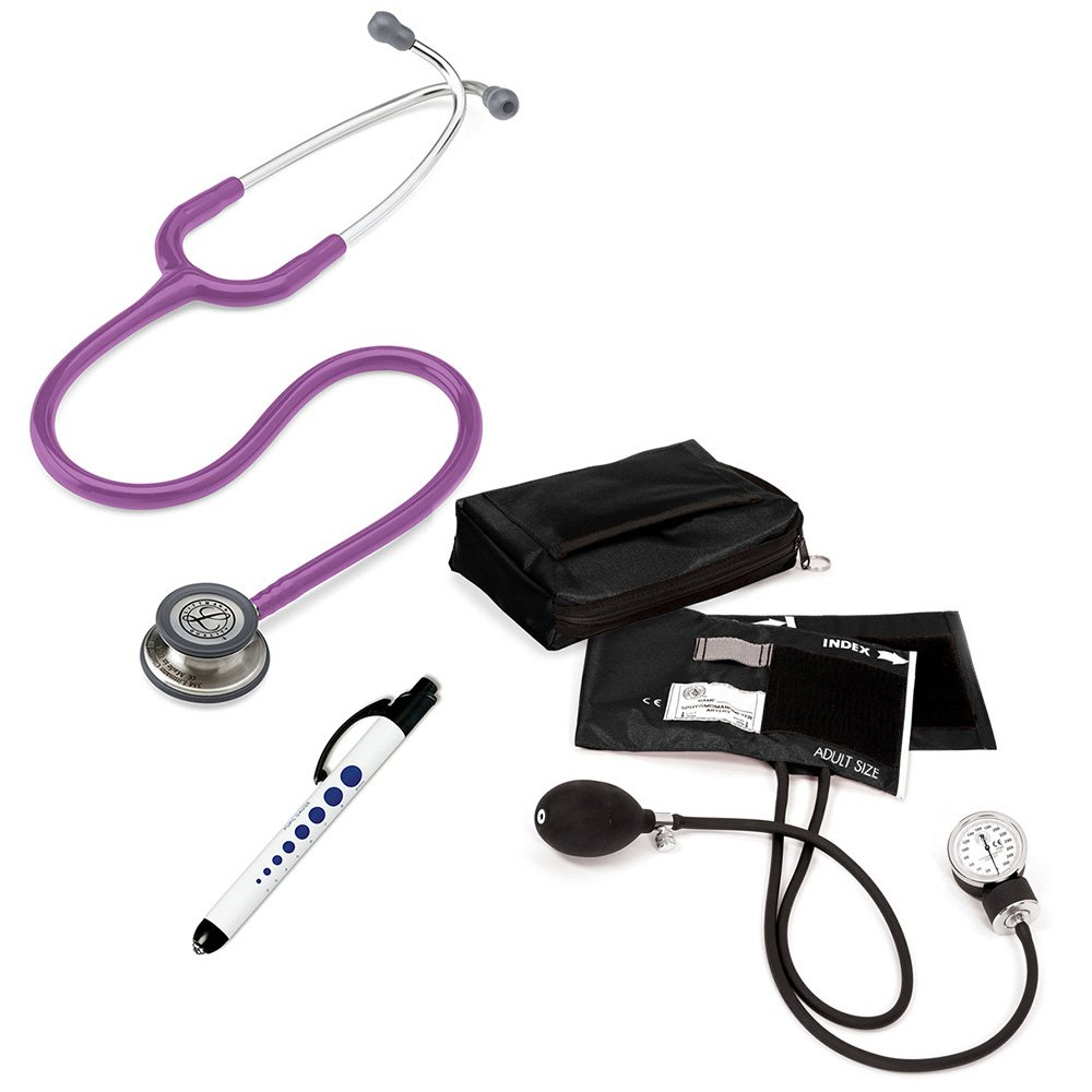 3M Littmann Classic Iii™ Prestige Medical Adult Sphygmomanometer With Case And Quick Lites Penlight Kit Lavender