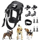 TANSUO Pet Dog Fetch Harness Adjustable Chest Strap Belt Mount For Camera Gopro Hero 5 4 3+ 3 2 SJ4000 SJ5000 SJ6000 SJ7000 XiaoYi HONGDAK Sports Camera Accessories Bundle