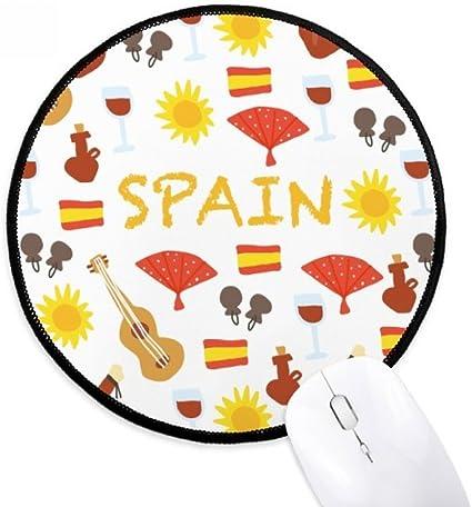 DIYthinker España Flamenco Alimentos Ronda antideslizante tapetes de ratón Negro Titched Bordes Juego Oficina regalo: Amazon.es: Oficina y papelería
