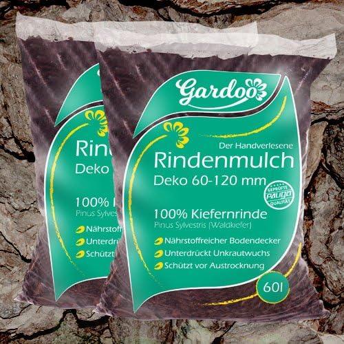 paligo Mantillo de Mantillo Jardín Madera Corteza Natural Bosque Pino Decoración 60 – 120 mm 70L X 30 Saco (2.100l/1 palé): Amazon.es: Jardín