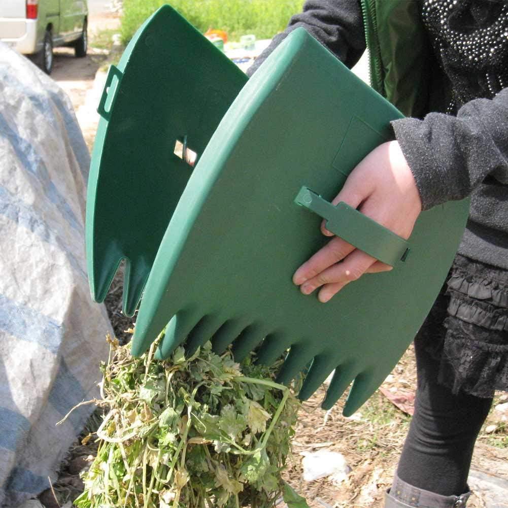 ergonomisch 1 Paar Grasschnitt und Rasenschmutz Tree2018 Laubschaufeln und Handrechen Handharke Greifer zum Aufheben von Laub