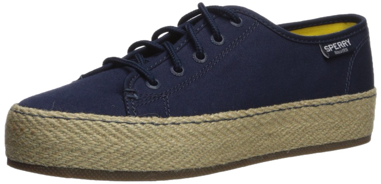 Sperry Top-Sider Women's Sky Sail Jute Wrap Sneaker B0721NNH7M 5 B(M) US|Navy