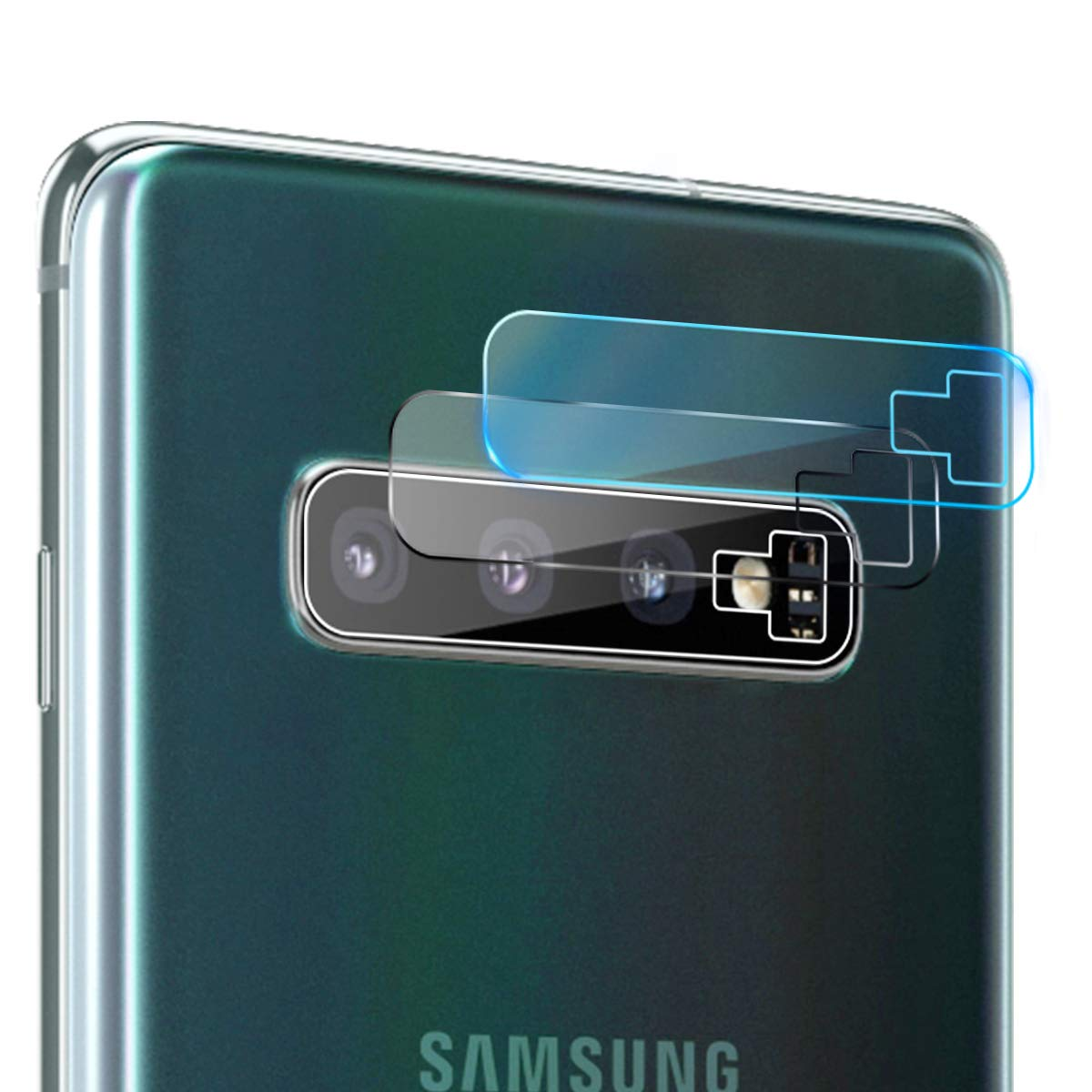 Casetego Compatible with Galaxy S10 Plus/S10 Camera Lens Protector, [3 Pack]Thin Transparent Clear Camera Tempered High Definition Camera Lens Protector for Samsung Galaxy S10 Plus/S10,Clear