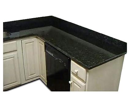 EZ FAUX DECOR Self Adhesive Peel and Stick Black Marble Granite (36\