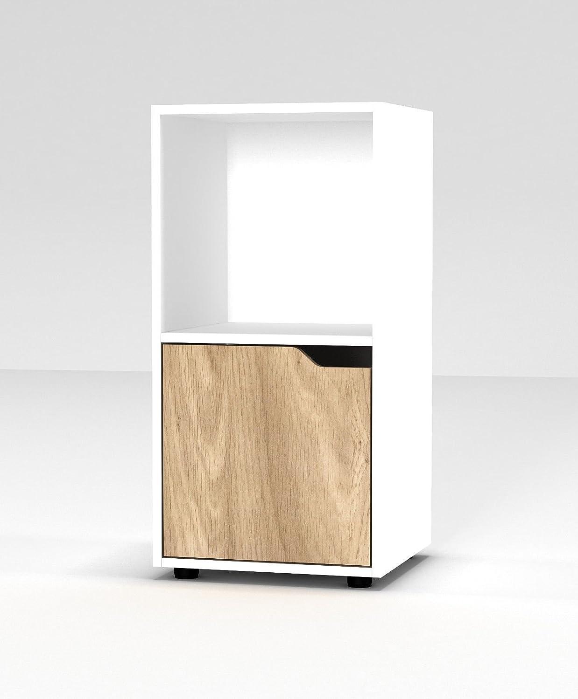 URBNLIVING Estanter/ía de madera de 3 niveles