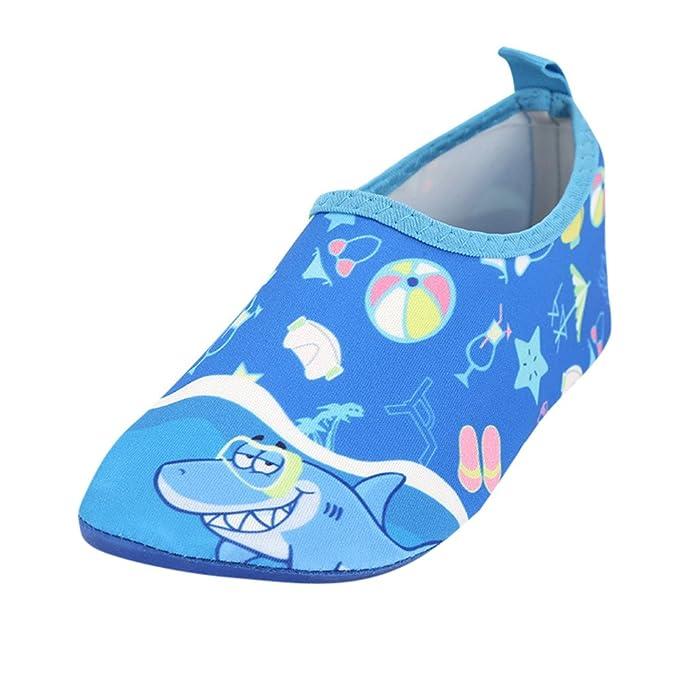 ZODOF Bebé Niños Zapatos Lindos Kid Baby Boys & Girls Sea Shark Beach Calcetines de Snorkel