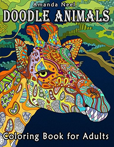 Doodle Animals Coloring Book for Adults (G Pen India Ink Set)