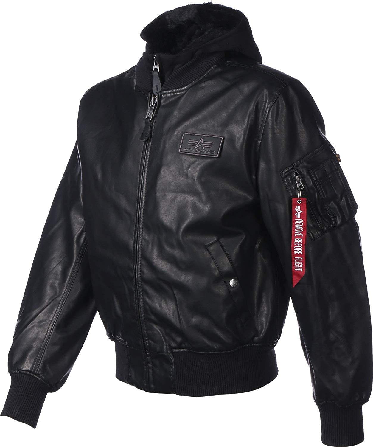 Alpha Industries Men Leather Jackets MA-1 D-Tec FL Leather  Amazon.co.uk   Clothing 167cdd01744
