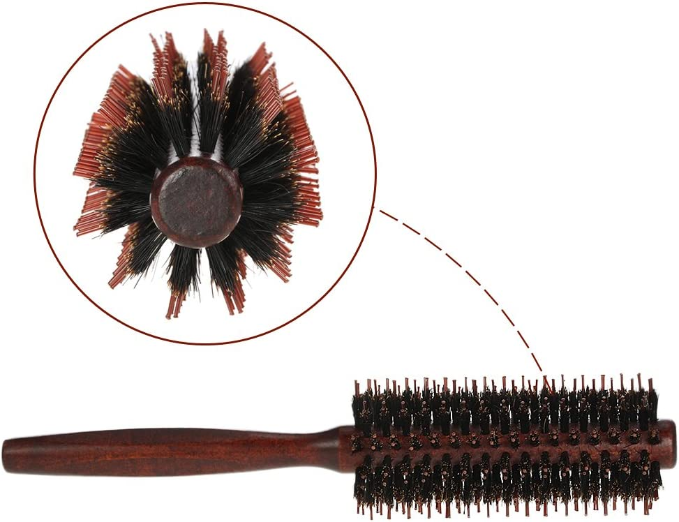 YingYing Bath and Clean Bristle Roll Round Comb Hairbrush Long Dual Comb Teeth Hair Scalp Massage Comb Hair Brush