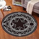 HOMEE Cartoon children round carpet bedroom computer chair carpet swivel carpet hanging basket mats (color, Size optional),80Cm,#5